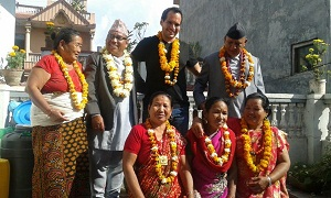 Visiting family members of IVLP alumni during a trip through Nepal